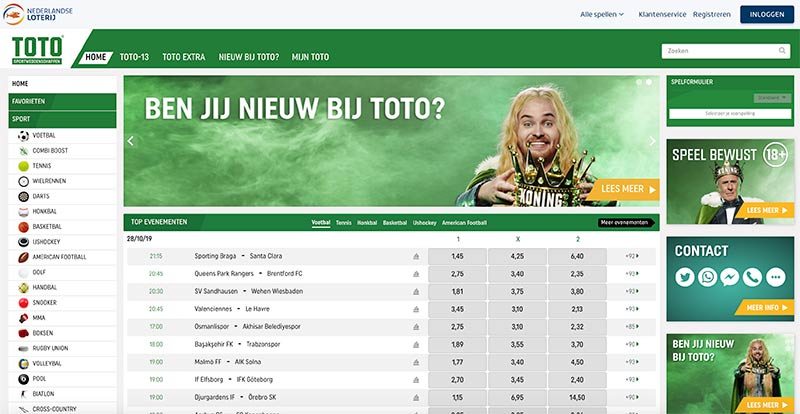 toto sportwedden website
